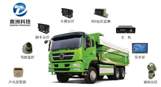 专汽通权威解读:城市渣土自卸车盲区监测系统