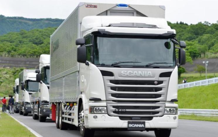 斯堪尼亚路测承载有效载荷的自动驾驶卡车