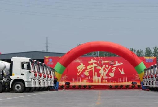 徐工漢風G5轻量化搅拌车批量发往重庆!