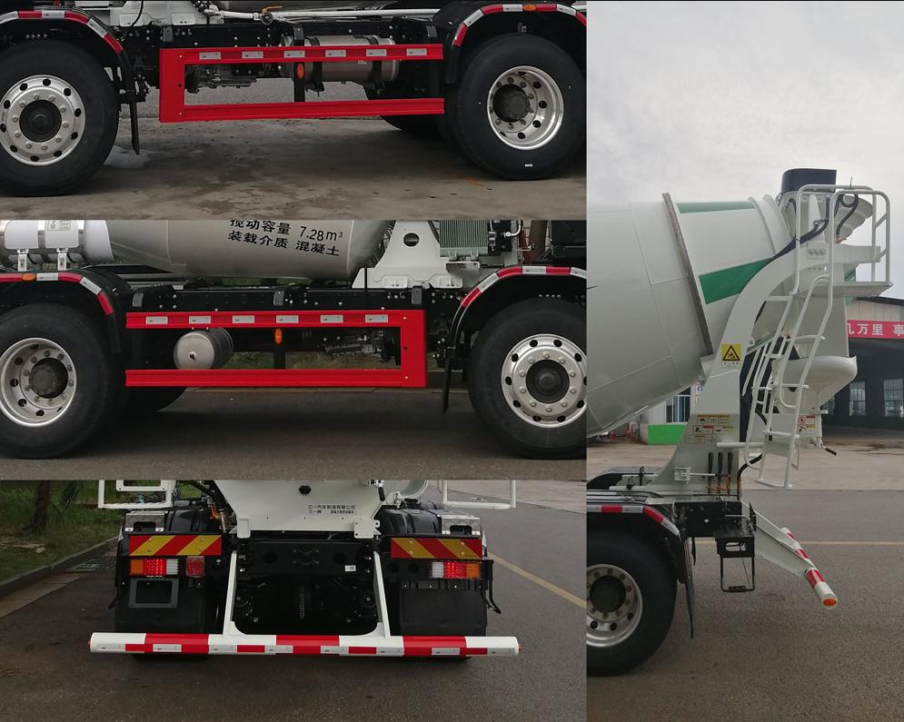 第348批《公告》之三一牌7.28方纯电动混凝土搅拌运输车(型号:SYM5310GJB5BEV1)